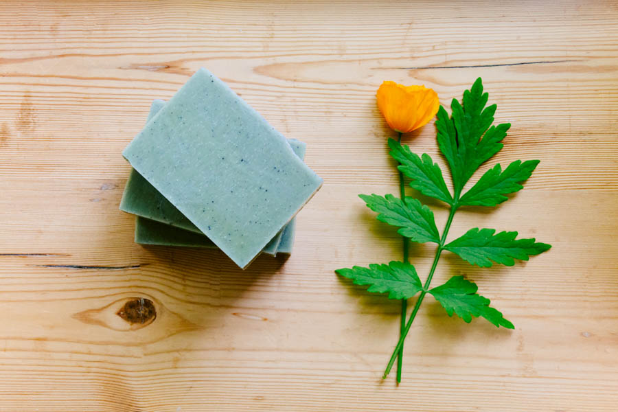 avocado and charcoal soap