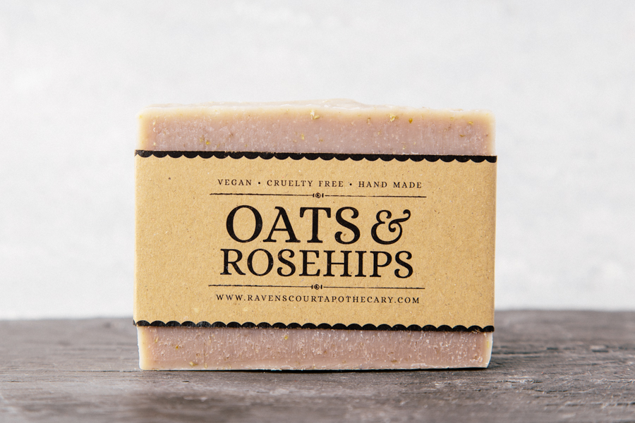 Oats&Rosehips Soap - front