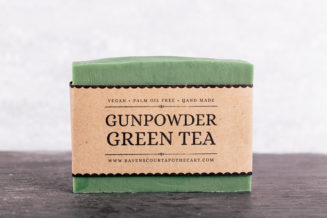 gunpowder green tea soap