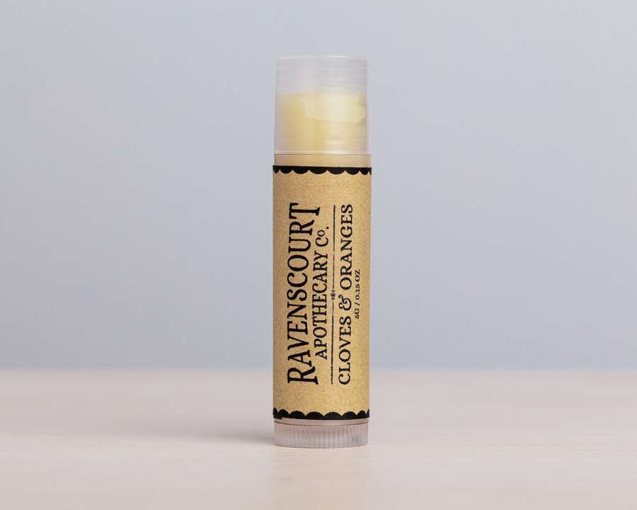 Cloves & Oranges vegan lip balm