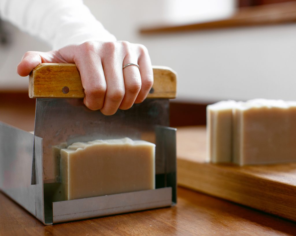 Cleanse your face naturally and effectively with a mild all natural soap.