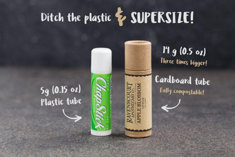 Compare to a standard lip balm