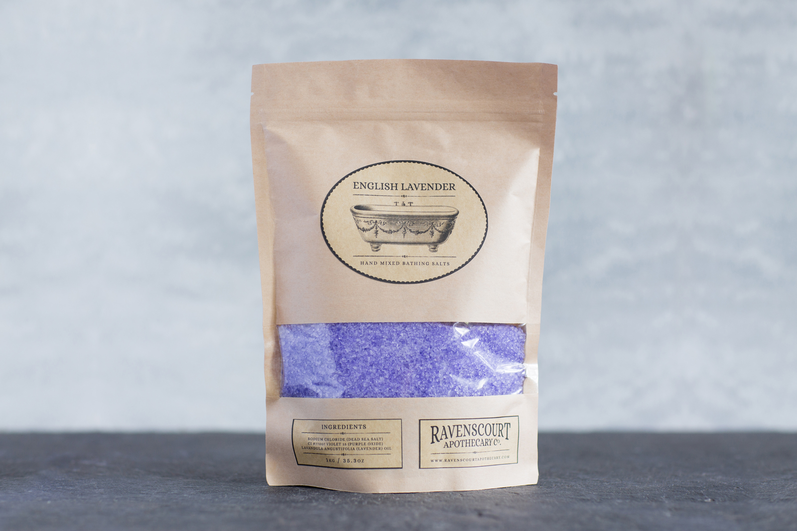 English Lavender Bath Salt 1 kg