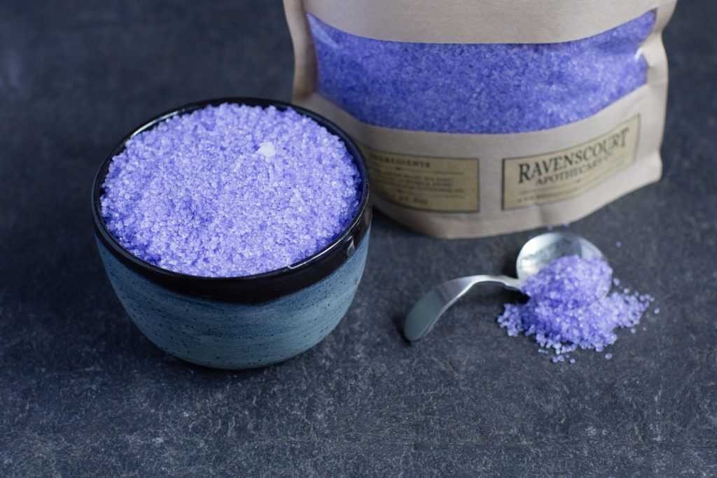 English Lavender Bath Salt 1 kg closeup