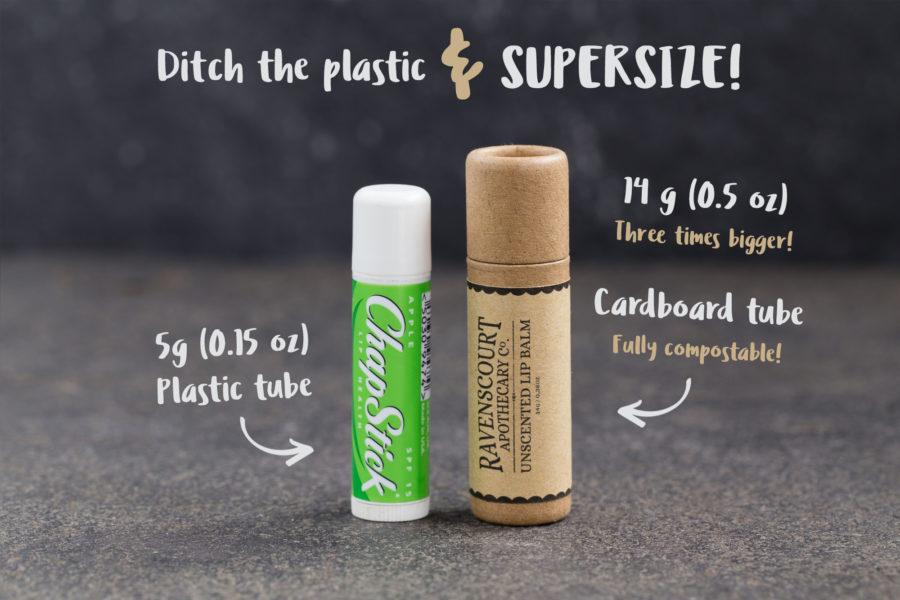 Chapstick vs Unscented Vegan Lip Balm