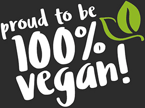 Proud to be 100 percent vegan!