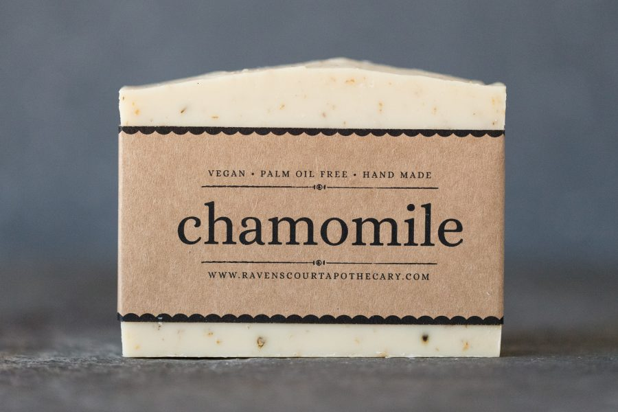 chamomile soap - front